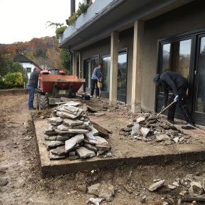 Umbauarbeiten Terrasse